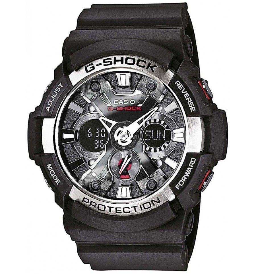 Sportief G Shock Horloge Ga 200 1aer Met Zwarte Resin Kast Casio Gst 200cp 2a Vette Chronograaf Antimagnetisch