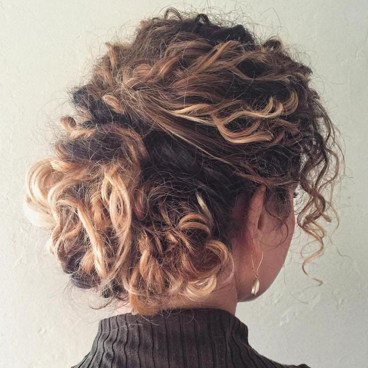 Messy Updo For Curly Hair #messyupdos