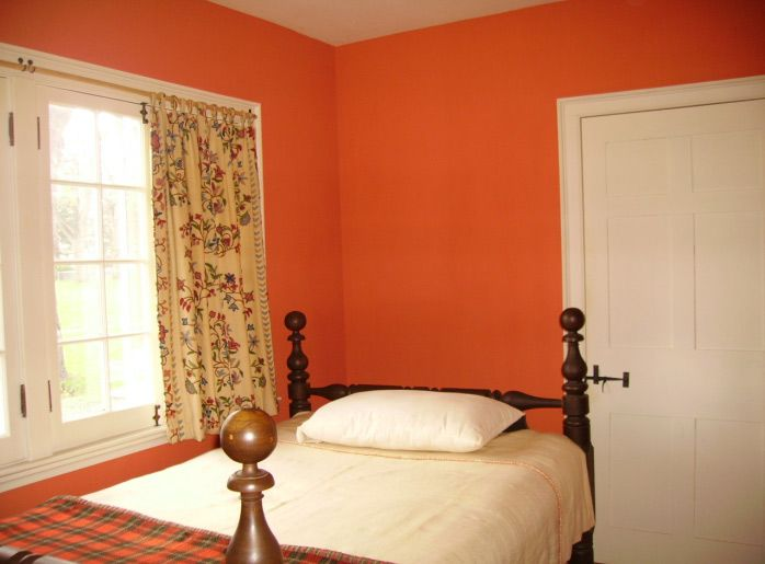 Bare Walls To Bright Colors Orange Bedroom Walls Orange