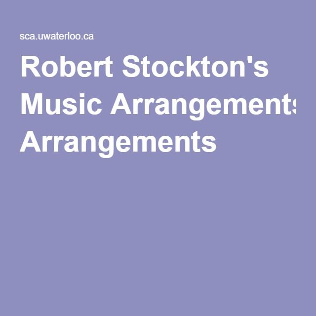 Robert Stockton's Music Arrangements