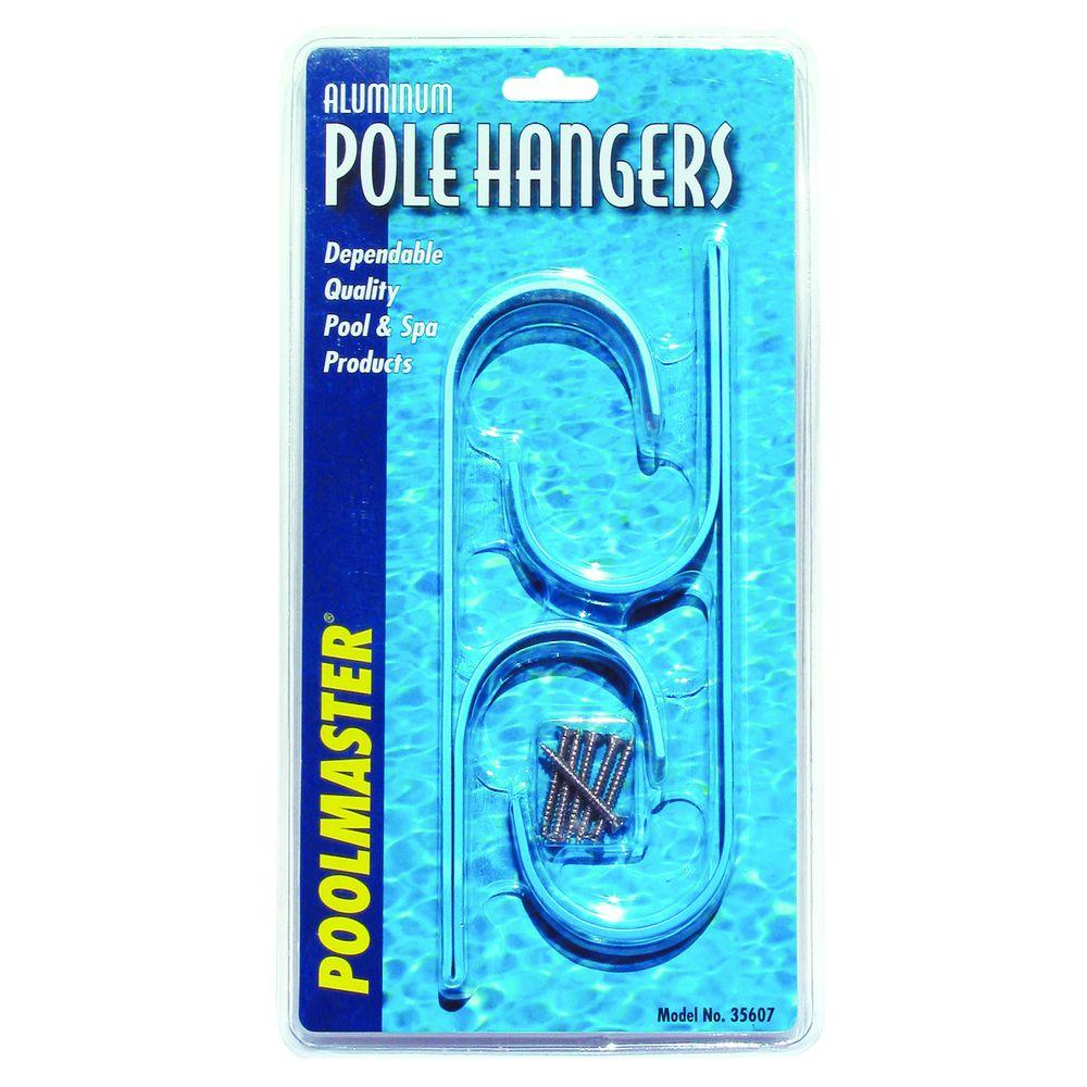 Poolmaster Aluminum Swimming Pool Pole Hangers 2 Pack 35607 The Home Depot Pool Poles Swimming Pools Pool Accessories