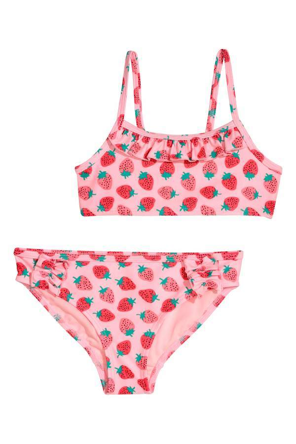 ee86cb03b5 H&M Patterned Bikini - Pink/strawberries - Kids #ad #swimwear ...
