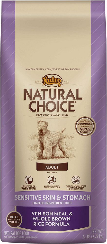 Nutro Natural Choice Sensitive Skin Stomach Adult Venison Meal