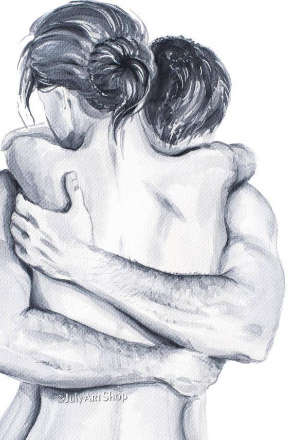 Liebhaber-Valentinstag-Karte für Freund. Aquarell malen. Clipart Schwarz-Weiß-Plakat illustratio  - Art - #Aquarell #art #Clipart #Freund #für #illustratio #LiebhaberValentinstagKarte #malen #SchwarzWeißPlakat