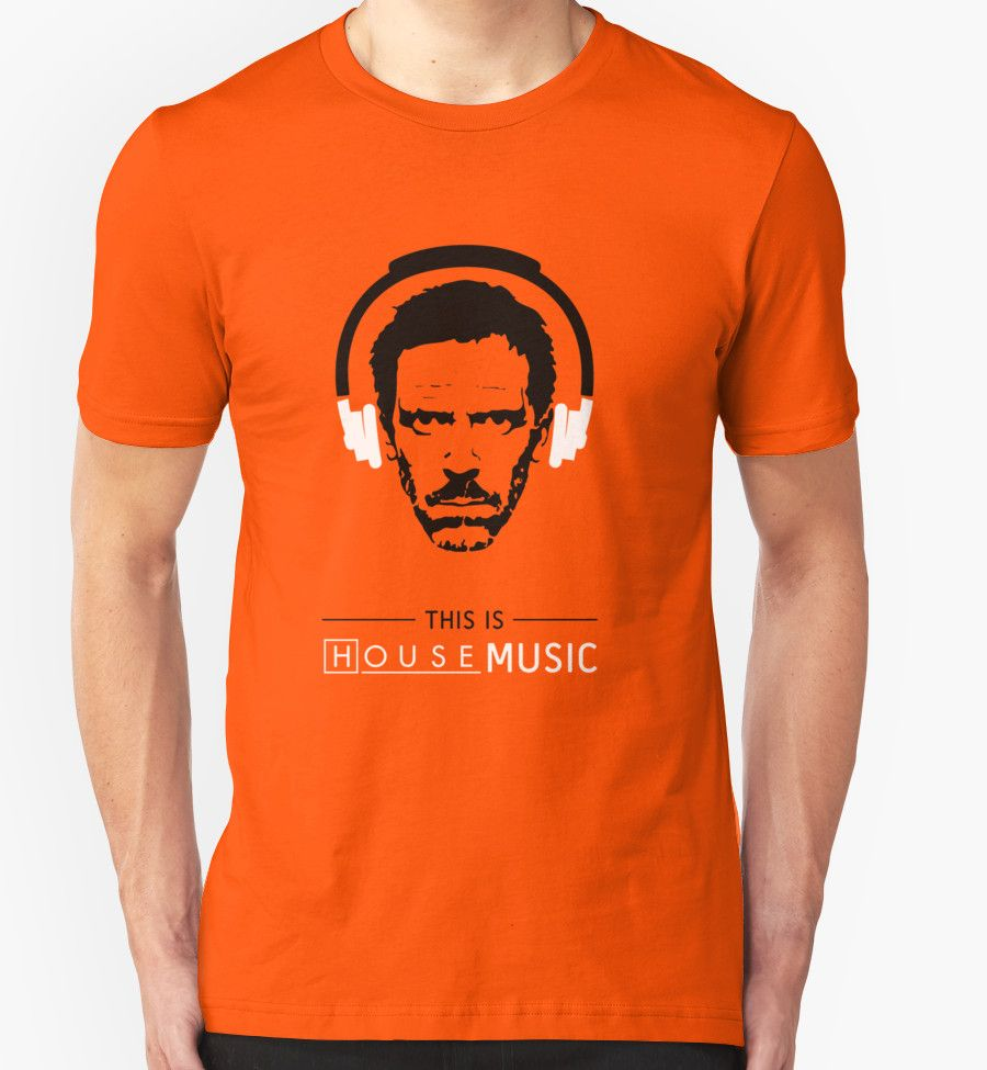 This is HOUSE music by TeeAgromenaguer  #tee #tshirt #cool #house #music #dj #gregory #illustration #pun #mashup #orange #headphones #portrait #funny #face