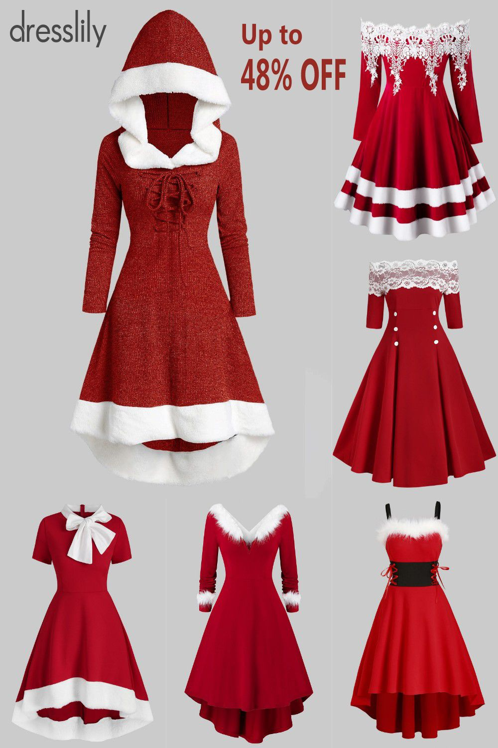 Womens fashion outfits | Christmas party outfit | Womens sweater | Vintage dresses | dresslily #christmaspartyoutfit