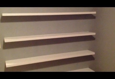 how to build sleek free floating wall shelves woodworkingguides rh pinterest com