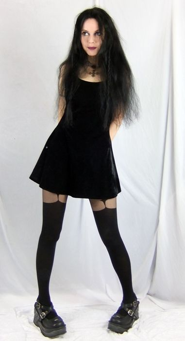 Little Black Widow Dress by Moonmaiden Gothic Clothing UK