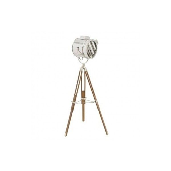 Contemporary Nickel Wood and Glass Tripod Shutter Floor Lamps (2.100 ...