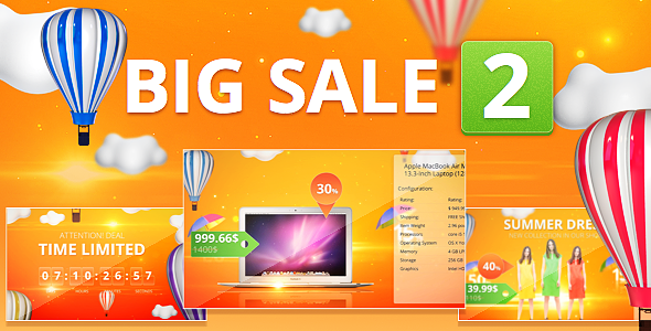 Big Sale Marketing Tool Template - After effects commercial template