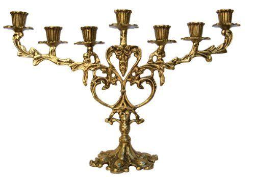 Candelabro Para 7 Velas Bronze Bronze Shop Ref 061 R 169 70 Candelabro Decoracao Bronze