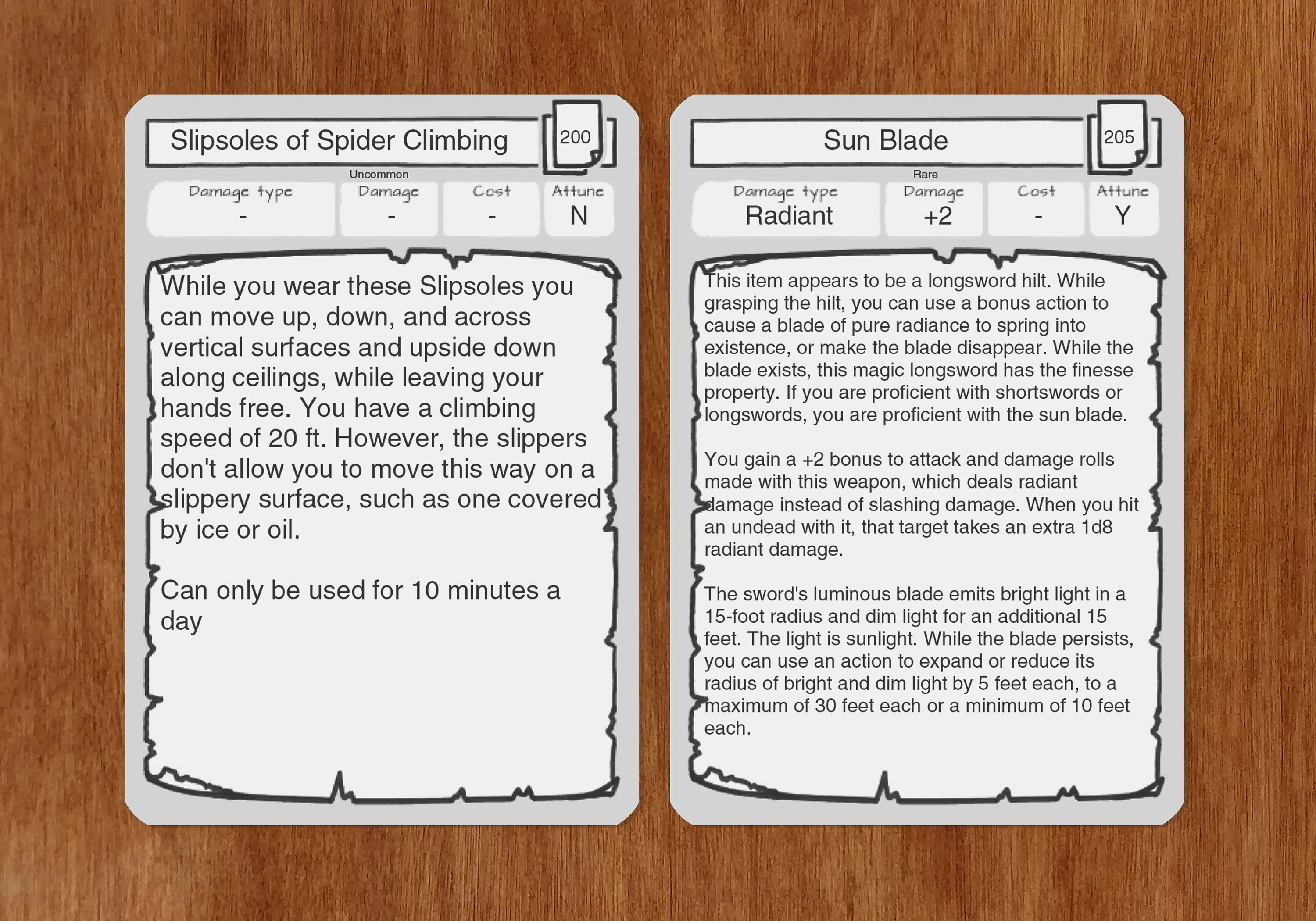 Item Cards Dnd 5e Pdf Fillable Same Size As The Etsy Monster Cards Cards Printed Cards