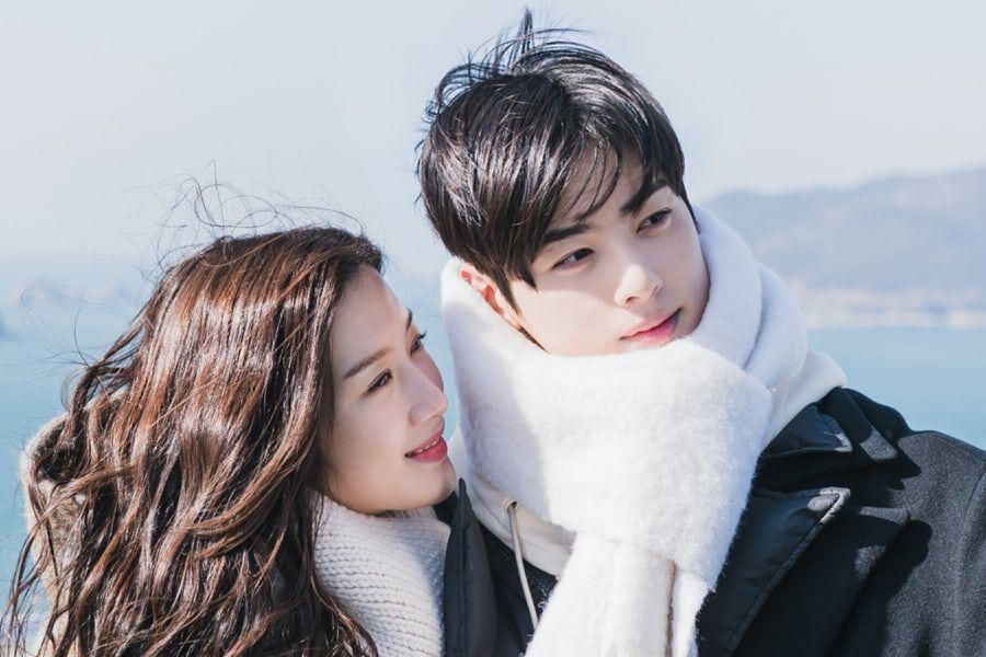 "Moon Ga Young And Cha Eun Woo Are A Picture-Perfect Couple During Seaside Date In ""True Beauty"""