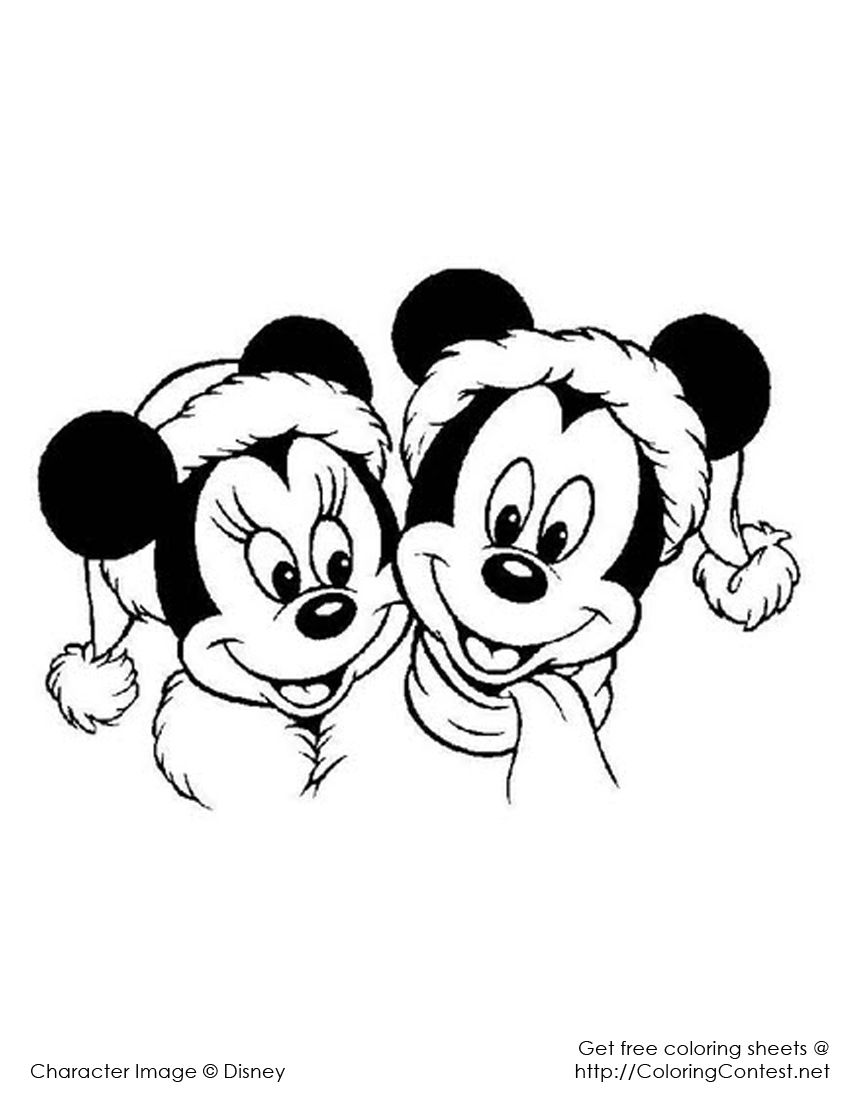 Disney Christmas Coloring Pages | Disney christmas and Christmas colors