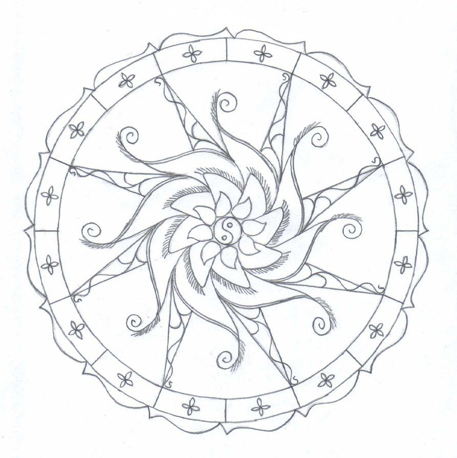 Simple Mandala Coloring Pages Printable The (not always) Lazy W ...