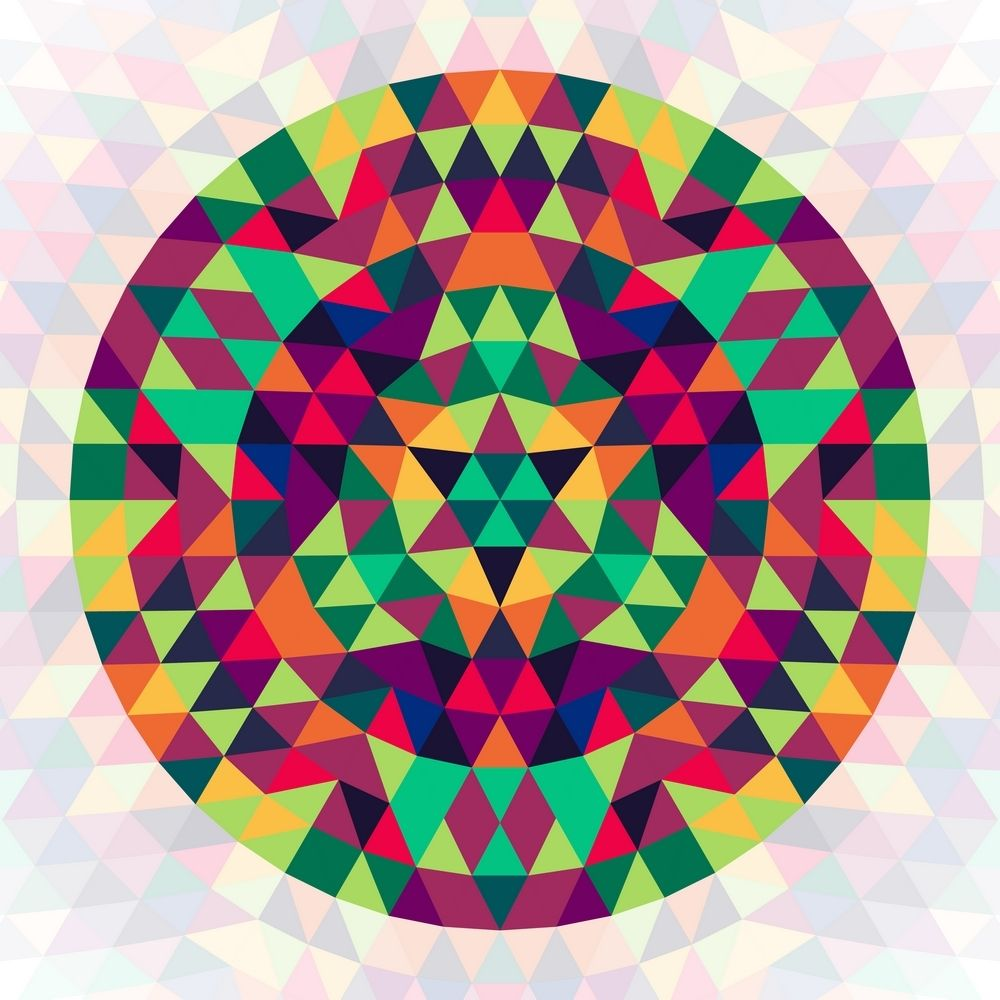 Image by Shutterstock Abstract Triangles Geometric Art Men/'s Tee