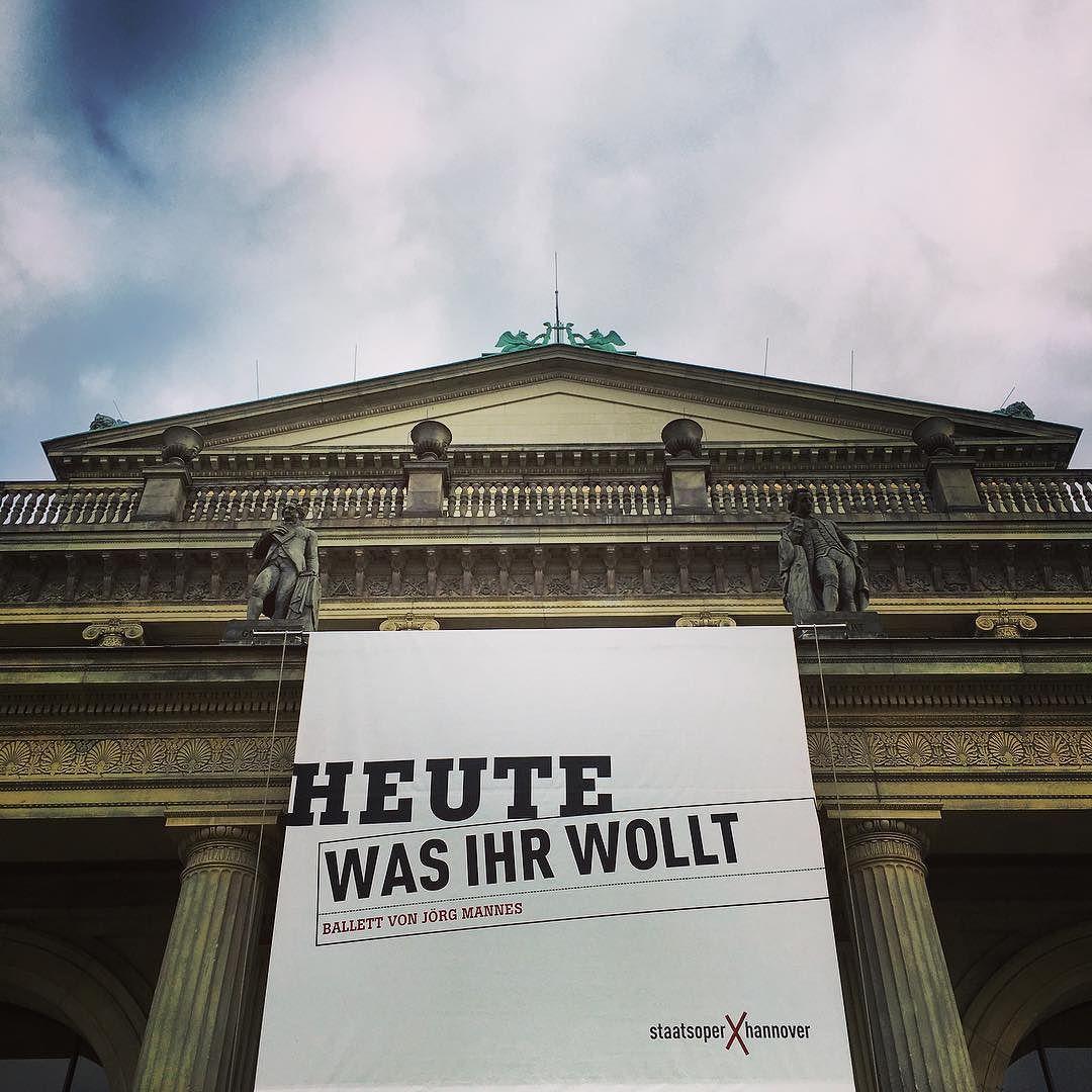 """Heute Abend vorletzte Vorstellung von """"Was ihr wollt""""!!! #hannoverballet #hannoverballett #joergmannes #dance #ballet #ballett #shakespeare #wasihrwollt #twelfthnight #hannover"""