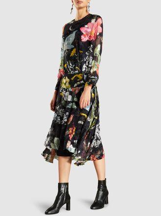 Cheap And Nice Cheap Price Outlet Sale Hayley Silk-Blend Devoré Midi Dress Preen 1uMyia
