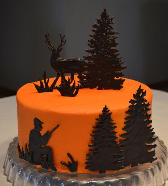 Deer Silouhette trees in green chocolate Pinterest