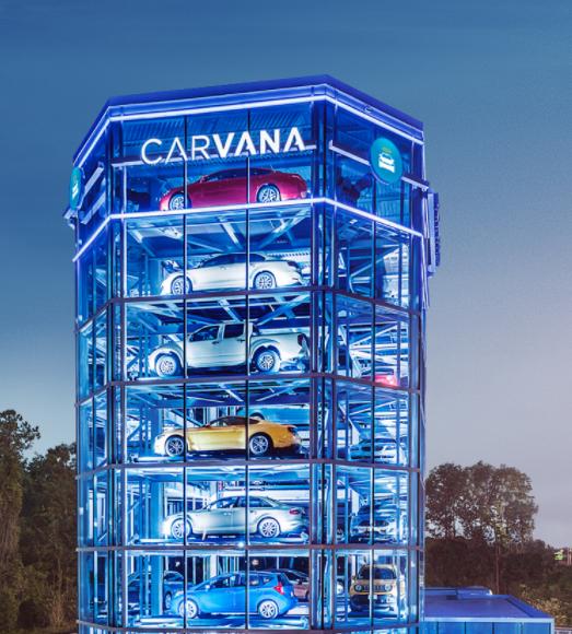 Carvana Used cars online, True car, Retail lighting