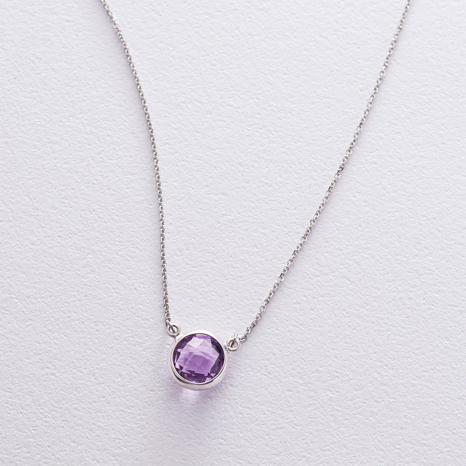 crystal necklace gold amethyst drop necklace Little Amethyst silver necklace dainty birthstone necklace birthstone jewelry