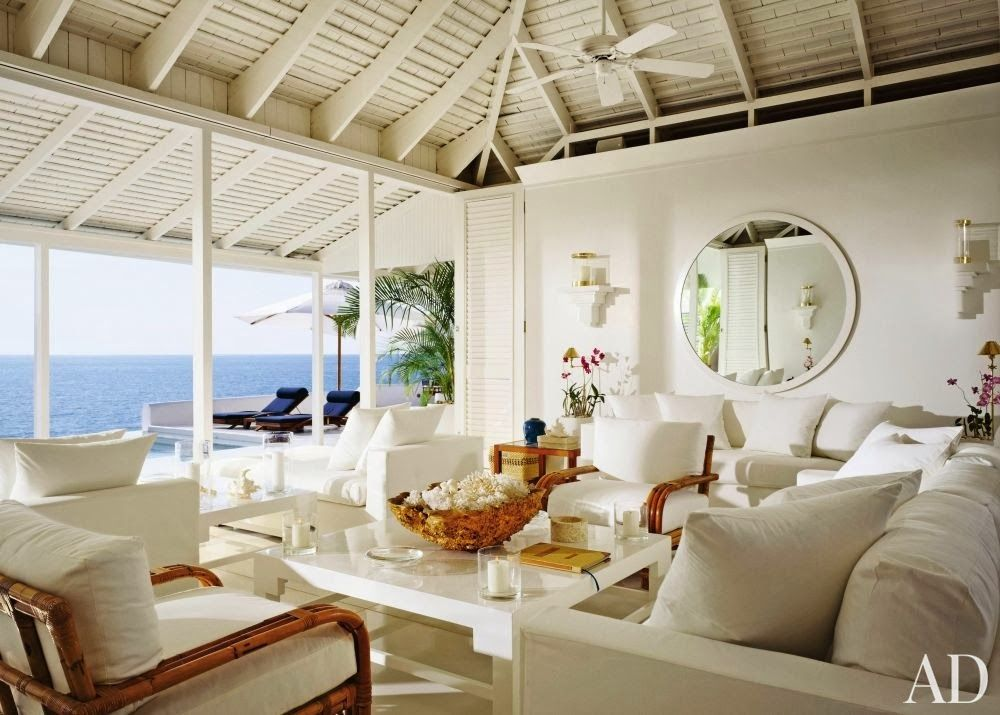 Ralph lauren guest house living room round hill jamaica for Room decor jamaica