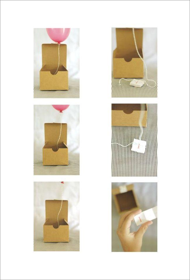 Mini Balloon-in-a-Box Invitation