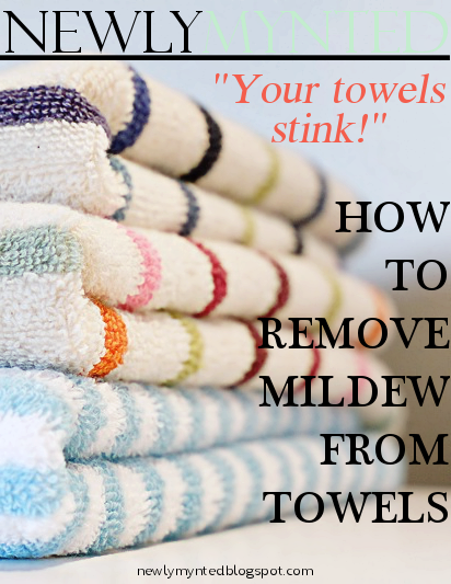 how to get mildew out of towels