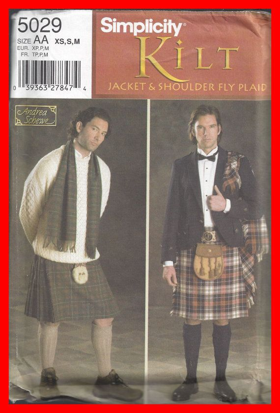 UNCUT Mens KILT Simplicity 5029 Pattern by TheMaineCoonCat on Etsy