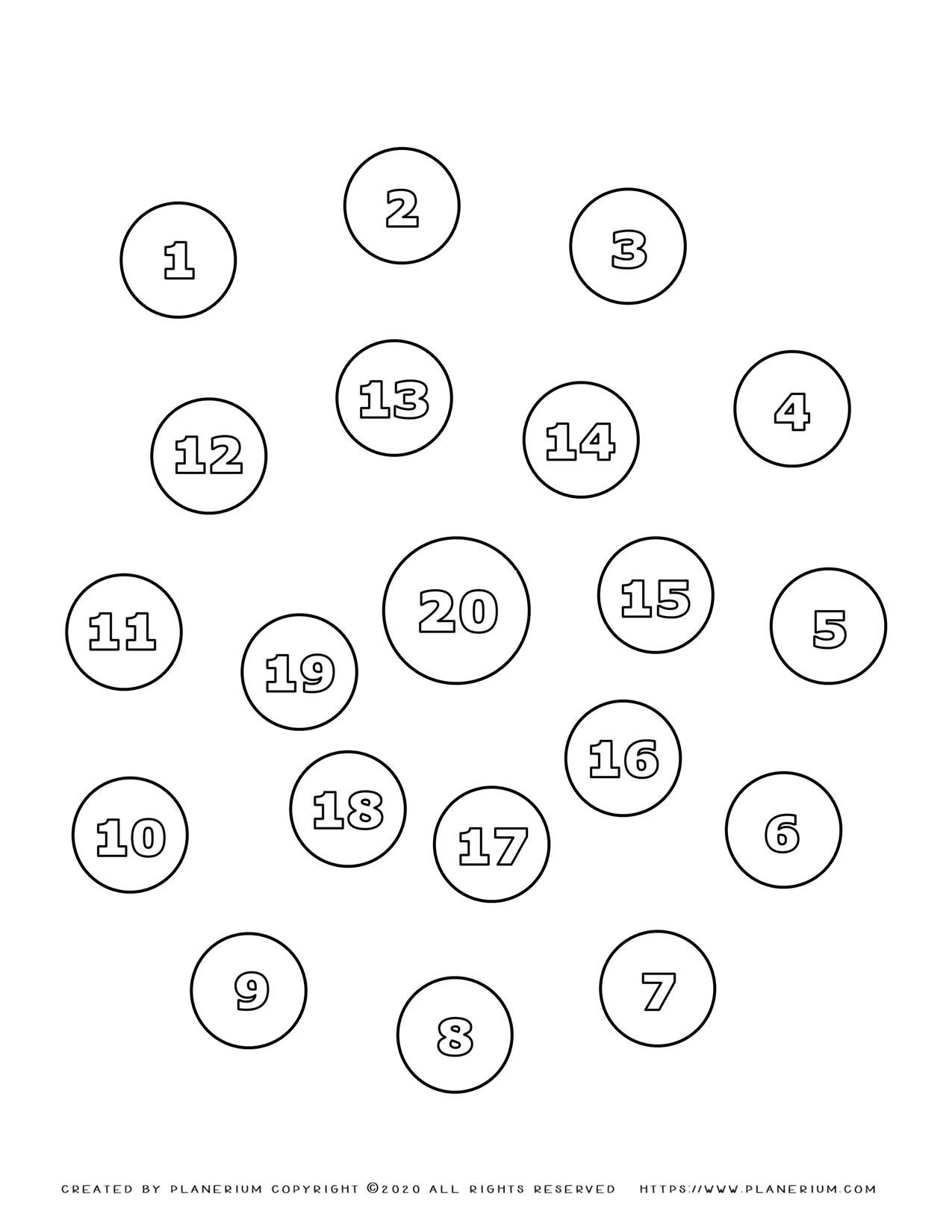 Number Coloring Pages 1 To 20 In Spiral Free Printable Planerium Coloring Pages Teacher Activities Learning Numbers