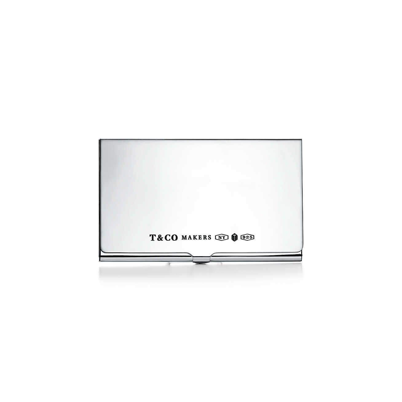 Tiffany And Co Silver Business Card Case Mens Luxury Accessories Tiffany Co Tiffany Store