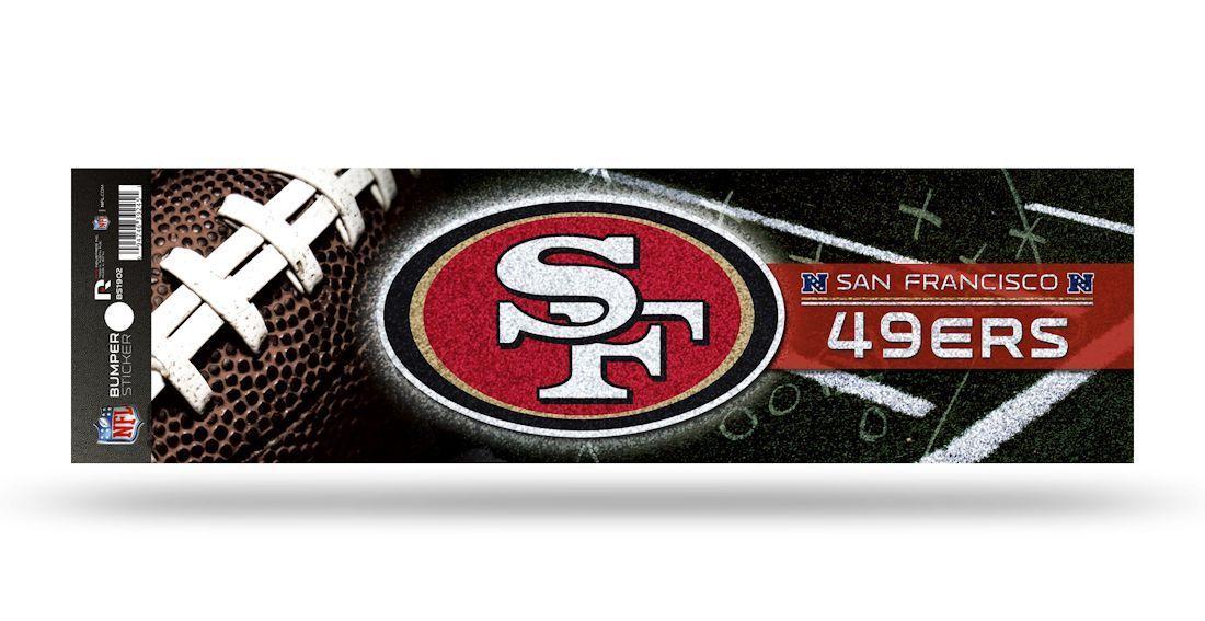 Wincraft NFL San Francisco 49ers 8x8 White Team Logo Decal