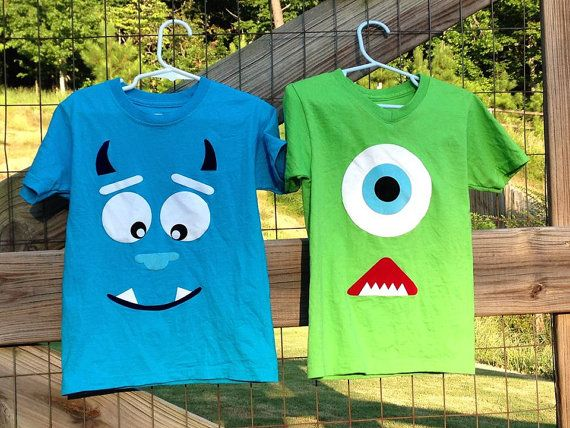 Monster's INC Sully and Mike shirts by TheCricketsCorner on