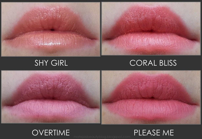 MAC Lipsticks Shy Girl, Coral Bliss, Overtime, Please Me ...