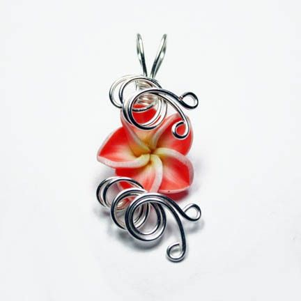 Aromatherapy wire wrapped orange tagerine tropical plumeria polymer what is a perfume pendant it is a pendant that defuses perfume while your wear it simply put a drop of your favorite perfume in the middle of the aloadofball Images
