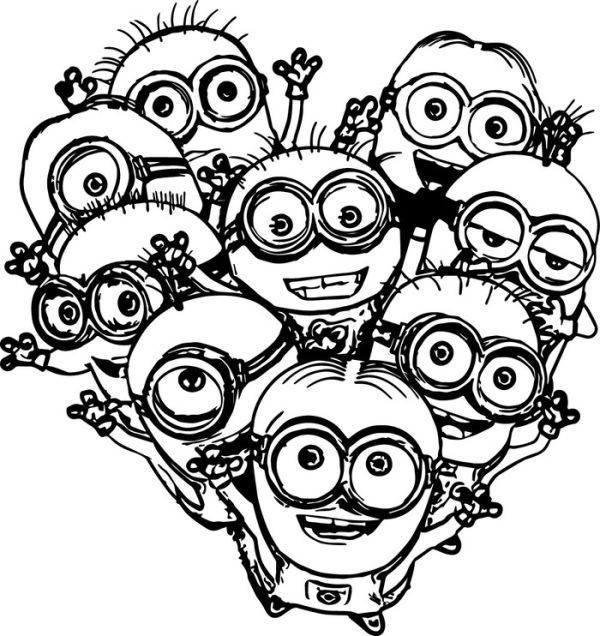 family minion coloring pages  who doesn u0026 39 t know minions