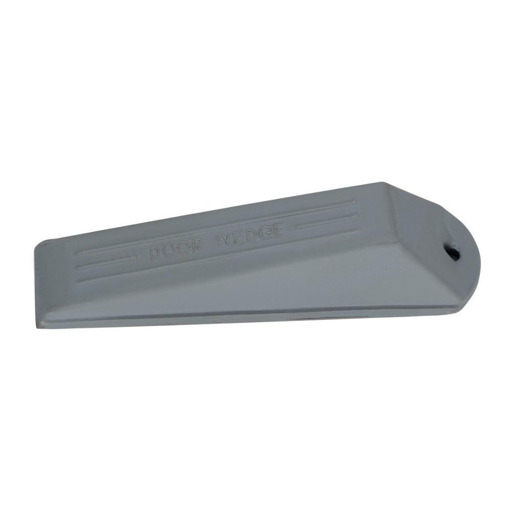 Mascot Hardware Grey Rubber 5 1 3 In Door Stop Wedge Door Stop