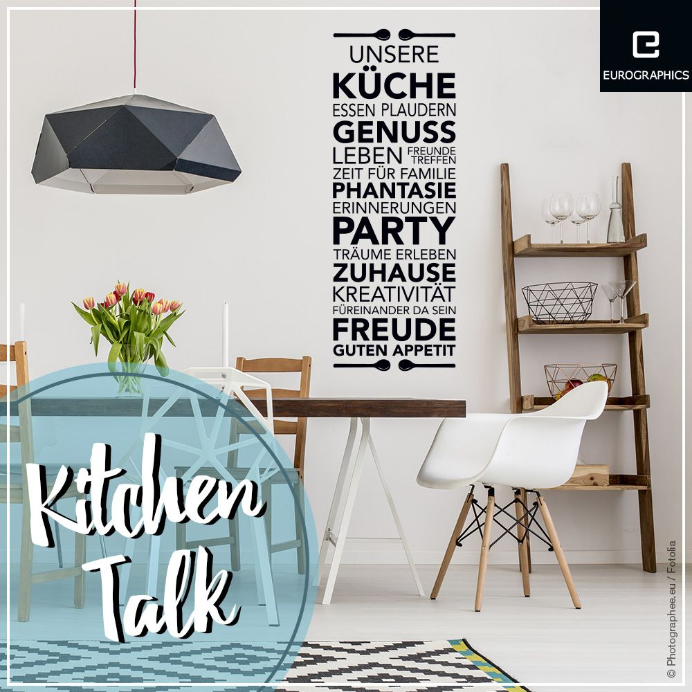 Küche design zitate pin by eurographics on sticker wand u fenster  pinterest