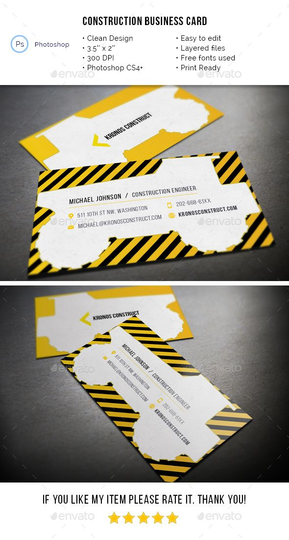 Construction business card pinterest construction business cards business card industry specific business cards download here httpsgraphicriveritemconstruction business card 19712781srank8refal fatih reheart Choice Image