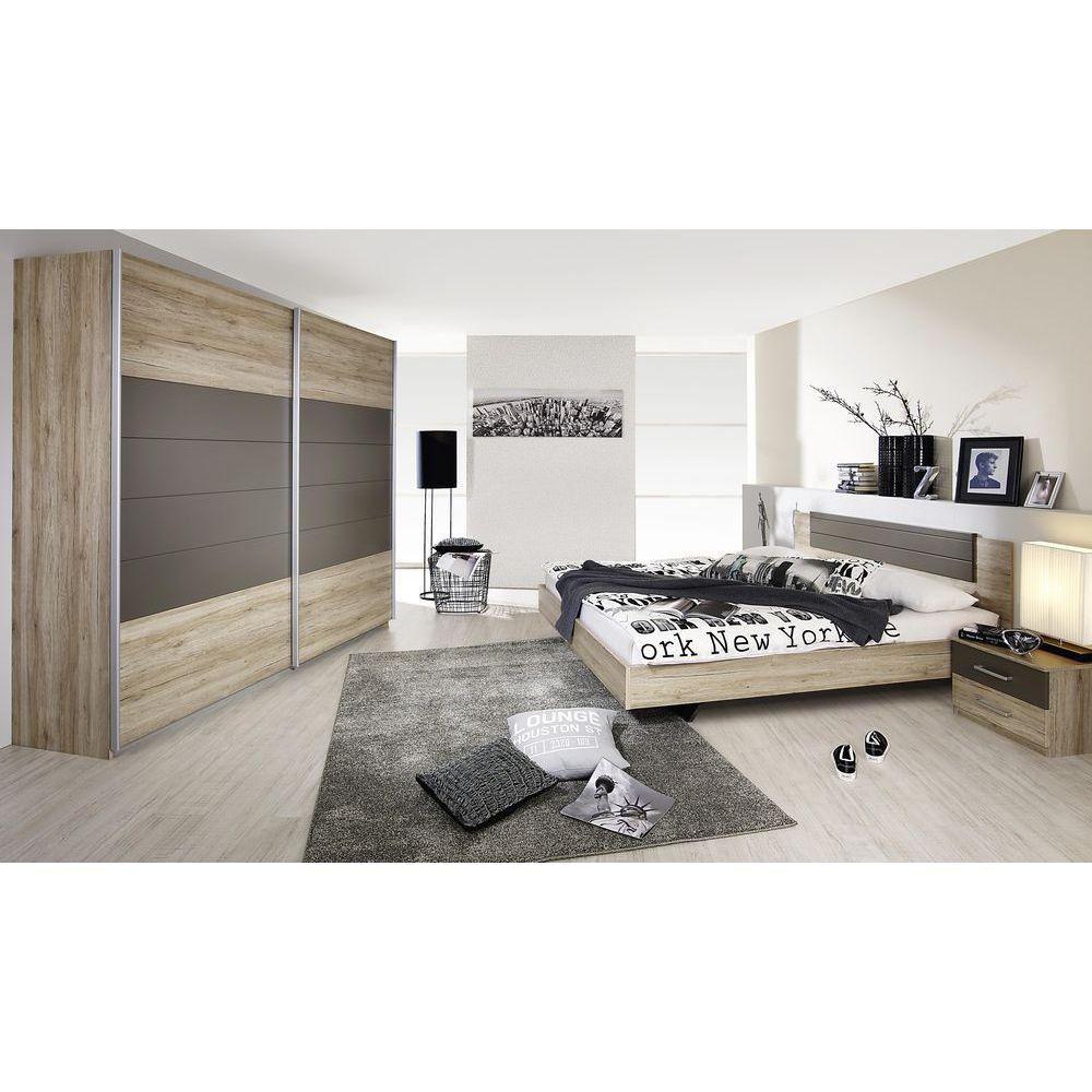 Schlafzimmer Set Barcelona 4tlg. 180x200 Eiche Sanremo Lava Jetzt ...