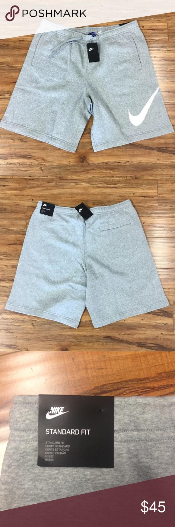 Grey Nike Swoosh Mens Cotton Shorts | Mens cotton shorts ...