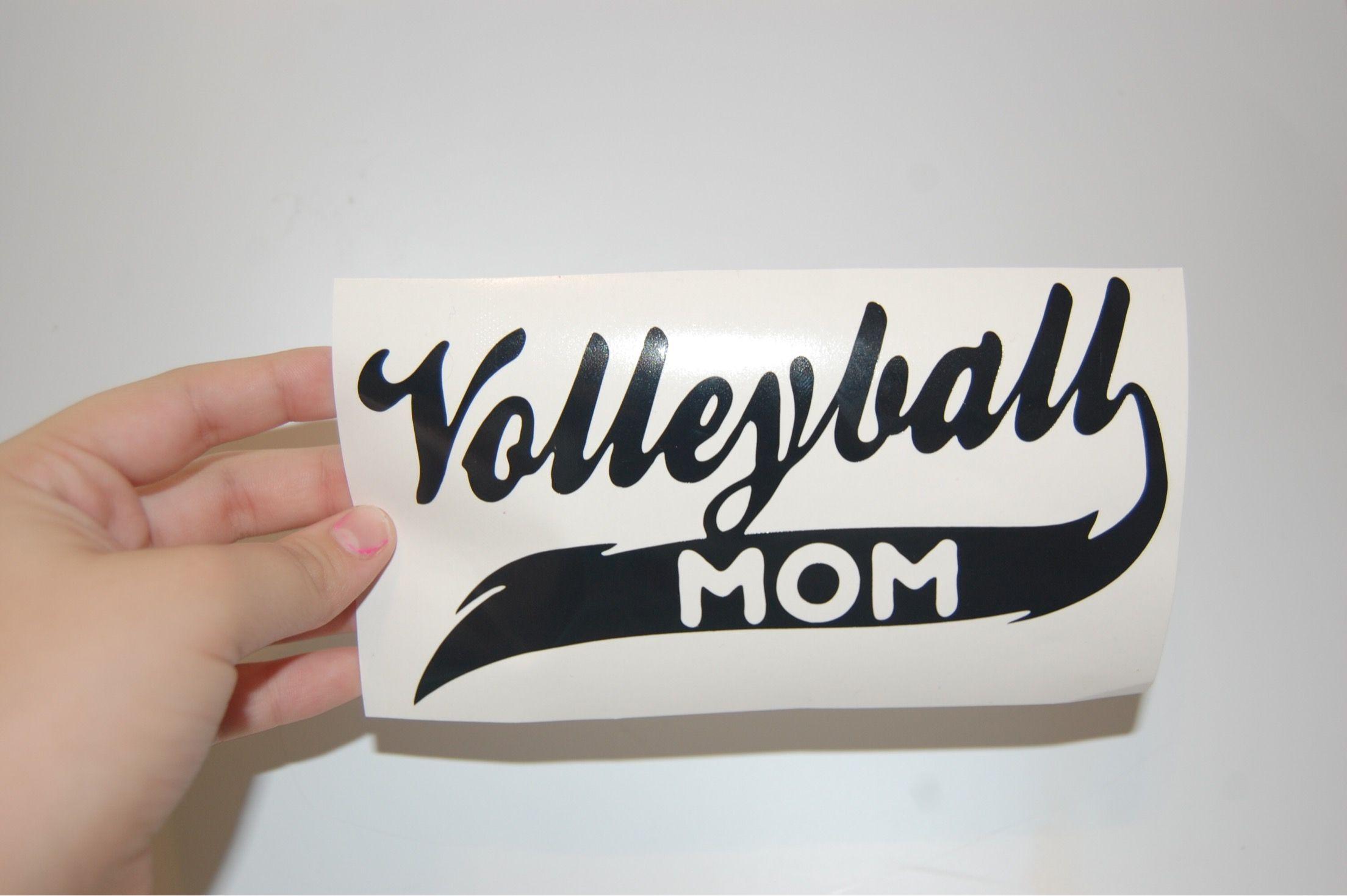 Love Volleyball Sports Vinyl Decal Car Window Decal Laptop Sticker White 3 X2 5 Sports Vinyl Decals Car Decals Vinyl Vinyl Decals [ 1023 x 1024 Pixel ]