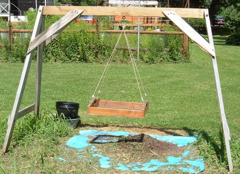 Cradle Or Swing Sifter For Sifting Compost Vege Garden Ideas