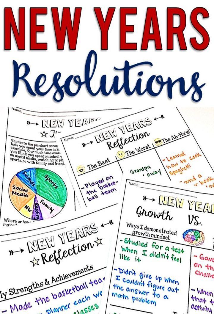 New Years Resolution 2020 NoPrep Graphic Organizers
