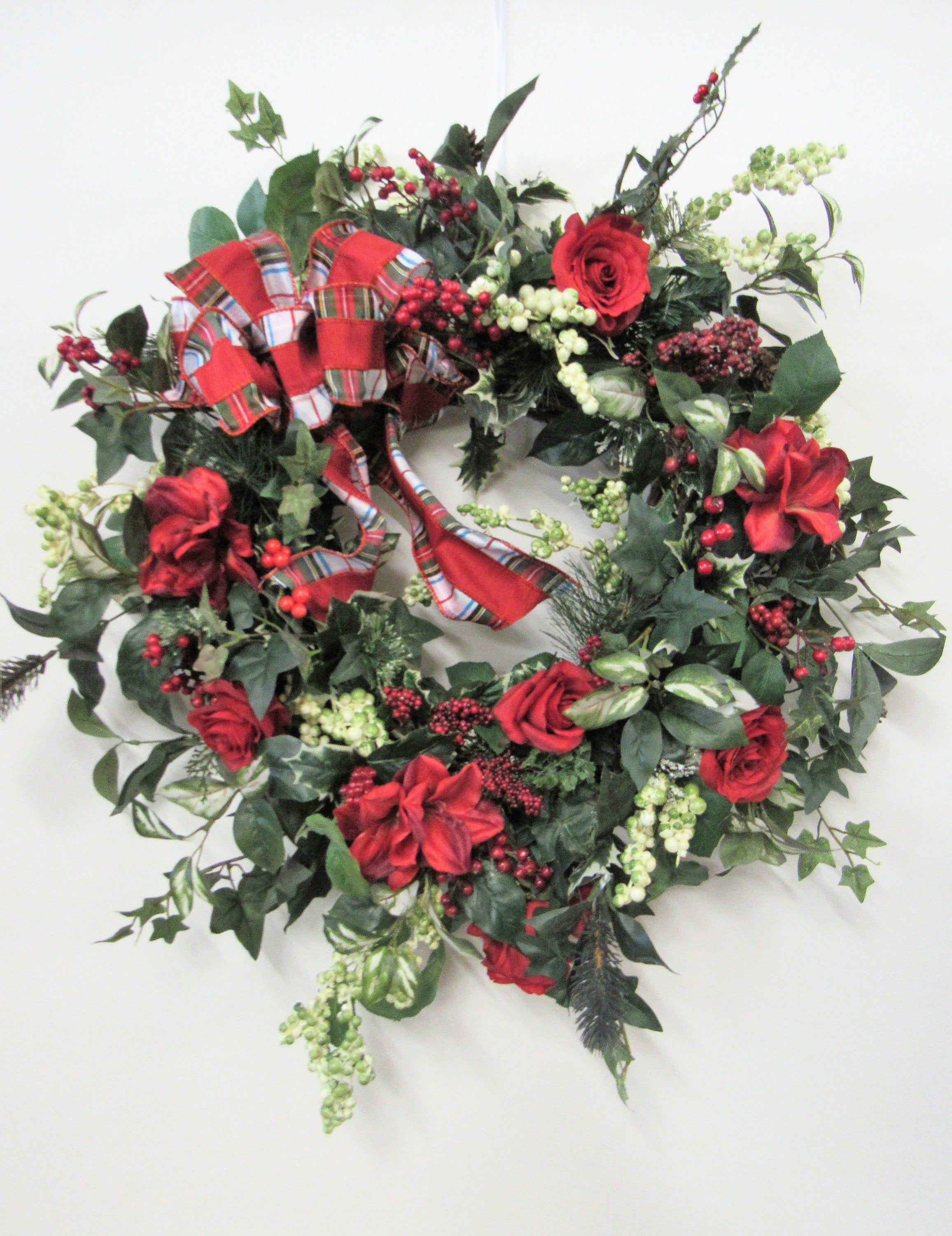 Red Rose Silk Floral Transitional Winter Front Door Wreath Winter Wreath Transitional Wreath Winter Decor Red Rose Wreath Red Rose Wreath Winter Wreath Rose Wreath