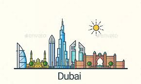 Image Result For Dubai Skyline Silhouette Vector Dubai Art Skyline Drawing Dubai City