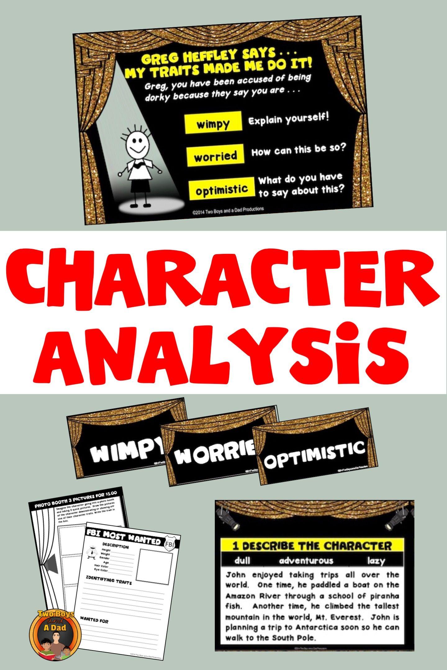 Character Traitsysis Activities