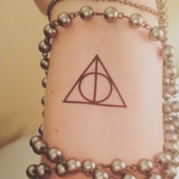 Harry Potter and the deathly hallows fake tattoo temporary tattoo deathly hallows