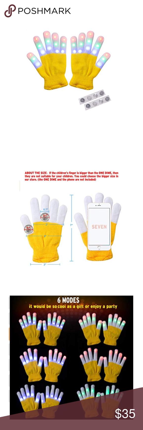 Yellow Led Warm Gloves EXTRA BONUS Extra Set of 4