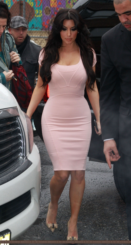 Kim kardashian pink dresses